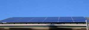 太陽光発電システム屋根設置完了