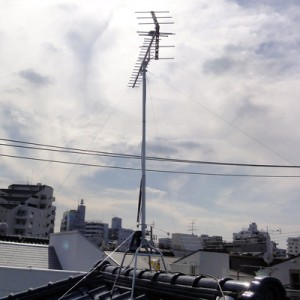 BSアンテナと地デジアンテナの設置例