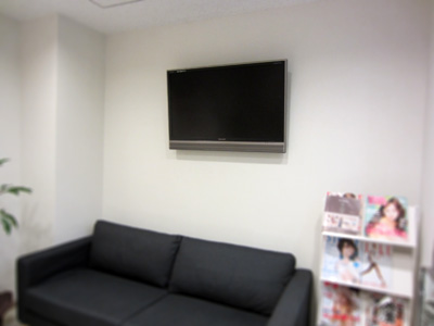 東村山歯科医院テレビ壁掛け
