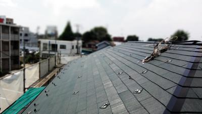府中市太陽光着脱屋根塗装後