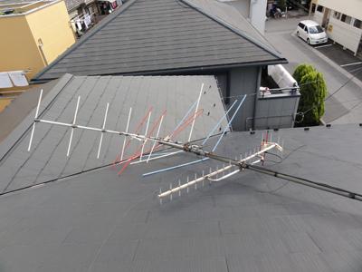 岩槻区で台風によりアンテナ倒壊