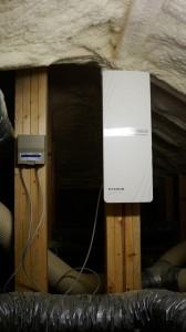 屋根裏にU2SWL20とDU35Mを設置しました