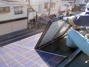太陽光発電パネル設置