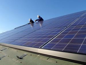 太陽光発電パネル設置後の作業