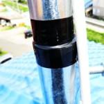 マスト挿し込み部分の防水処理