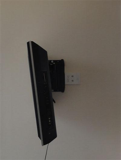 VMF220を使って真横に向けたテレビ