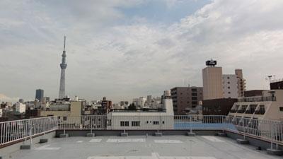 マンションの屋上からはスカイツリーがよく見えました