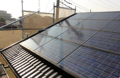 横浜太陽光パネル着脱屋根塗装