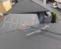 台風でアンテナが倒壊