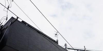 世田谷区でデザインアンテナ剛弓の設置