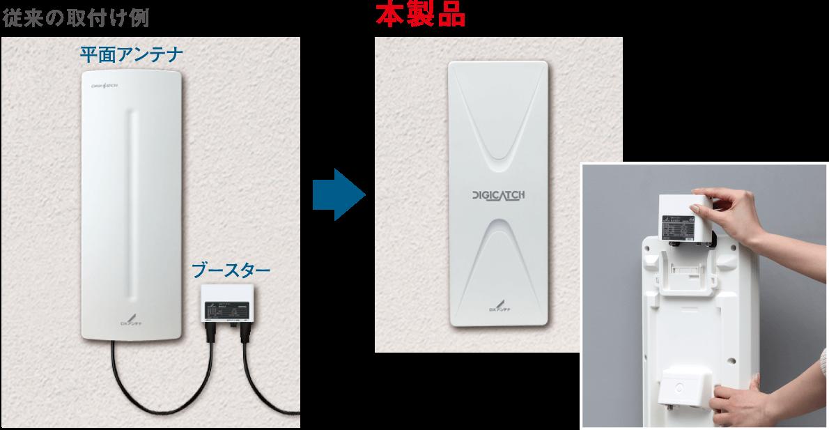 UAH201,UAH261はブースターを収納可能